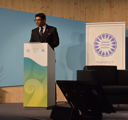 Fiji's finance minister at COP23