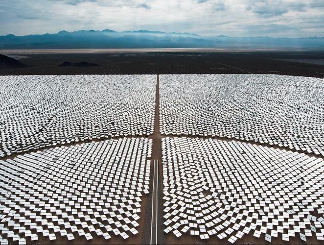 Ivanpah solar installation in Nipton, California