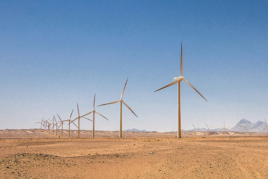 Wind power in desert