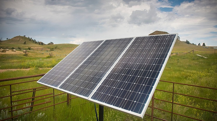 Solar panel in Montana