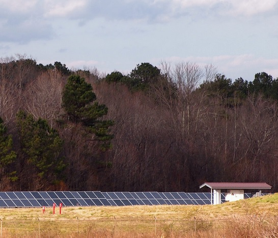Solar installation at Anheuser-Busch plant in Cartersville, Georgia