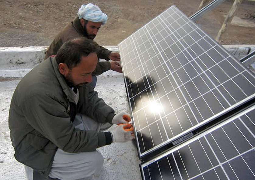 USAID sponsored this solar installation in Afghanistan