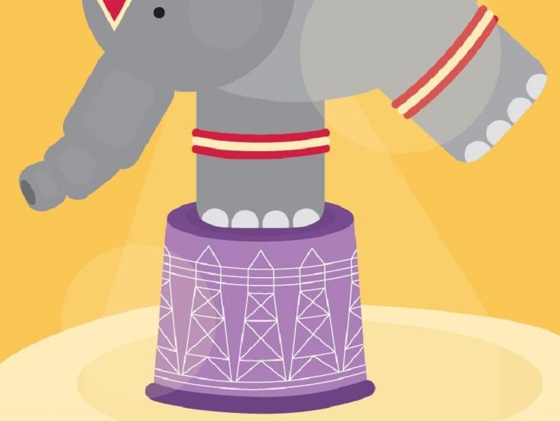 Elephant on the grid