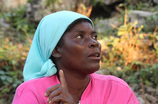 Louise Lexis Relus, Haitian farming community organizer, was photographed by Inter-American Foundation