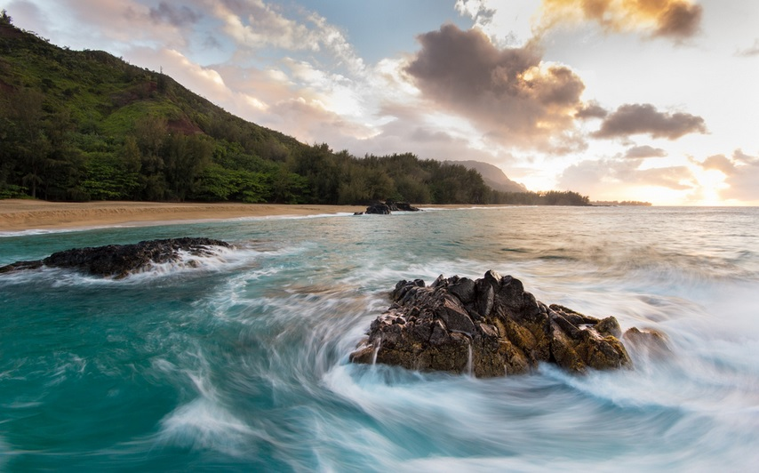 Lumahai Beach in Hawaii