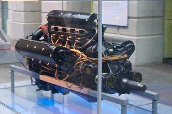 Engine in a museum exhibit